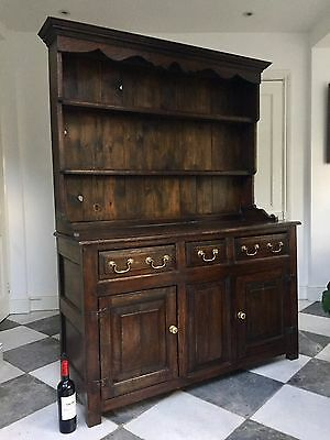 Early 20thc Faithful Reproduction of An Antique 18thc Georgian Oak Dresser