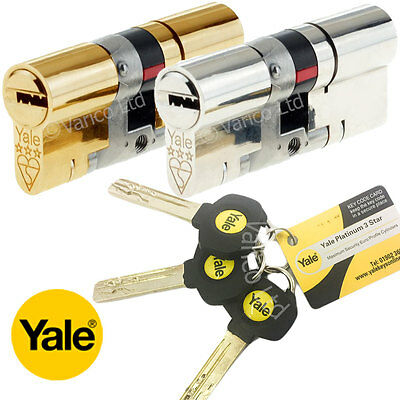 Yale Platinum 3 Star High Security Euro Cylinder Lock UPVC Doors Anti Snap TS007