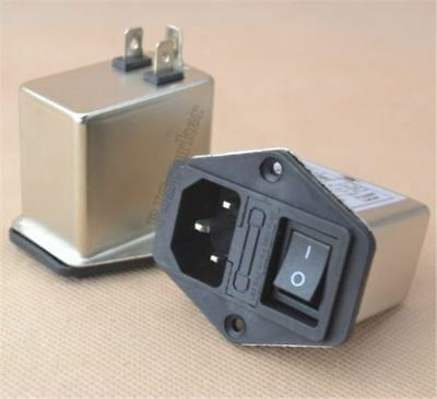 1Pcs Socket Connector Rocker Switch 10A Power Emi Filter Canny Well Emi With uc