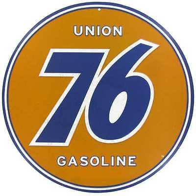 Union 76 Gas Embossed Tin Sign Vintage, Retro Metal Sign | Man Cave Garage Decor