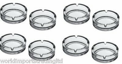 8 Pub Glass Ashtrays Plain Glass Classic Glass Ashtray