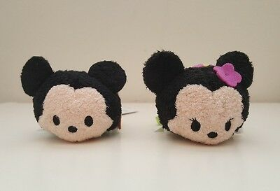 Authentic Disney Store Tsum Tsum Set Of 2 - Aloha Mickey and Minnie