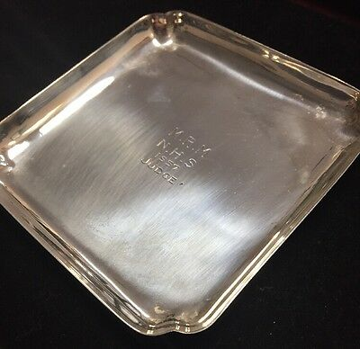 4 Oz Cartier Sterling Silver .925 Ash Tray/Trinket Tray Engraved 1957. 129 Grams