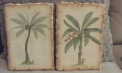 Tommy Bahama Wall Art Plaques - Set of 2 - palm trees - Unique - Please & TOMMY BAHAMA WALL Art Plaques - Set of 2 - palm trees - Unique ...