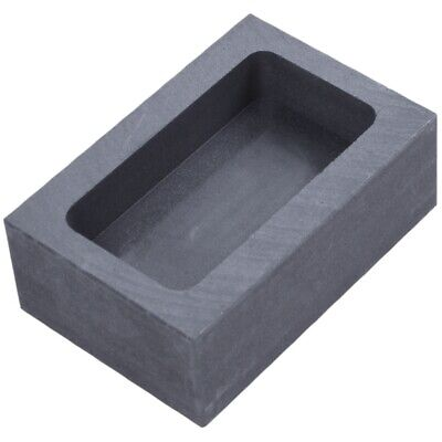 Pure Graphite Crucible Ingot Mold Oven Fusion Cast Melting Gold Silver Plat D1A7