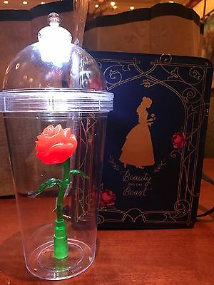 Beauty And The Beast Enchanted Light Up Rose Souvenir Cup Disney 🌹🌹