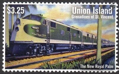 "Southern Railway ""THE NEW ROYAL PALM"" EMD E6 Cincinnati-Jacksonville Train Stamp"