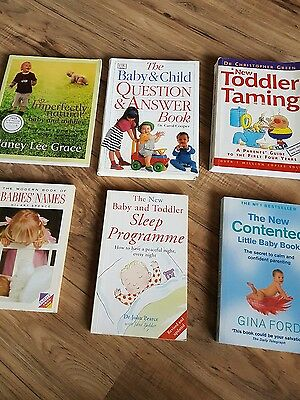 6 x Baby & Toddler parenting / advice books, 1 signed copy