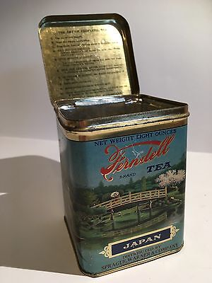 "Vintage Ferndell Brand TEA Hinge Covered TIN ""Japan"" 8 Oz. Rare"