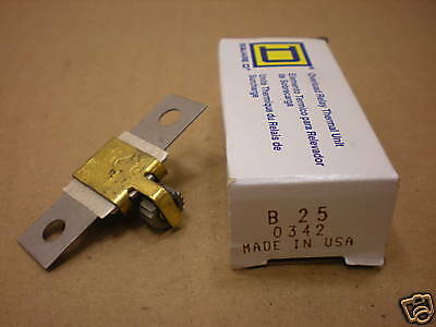 1 Nib Square D B25 Overload Relay Thermal Unit