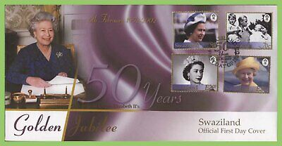 Swaziland 2002 QEII Golden Jubilee set on First Day Cover