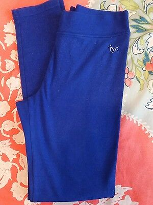 Girls Blue Sparkly Justice Stretchy Leggings Yoga Workout Pants size 16
