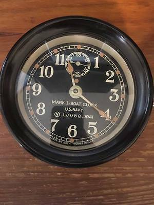 Seth Thomas U.s.navy Ships Clock Mark 1 Boat Clock ?chelsea?
