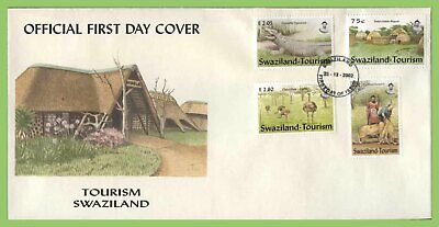 Swaziland 2002 Tourism set on First Day Cover