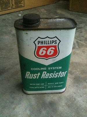 Vintage Phillips 66 Rust Resistor  Cooling System Tin Can   Empty
