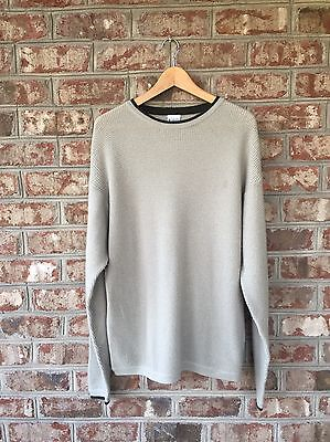 Columbia Mens Knit Crew Neck Wool Blend Pullover Sweater Sz L