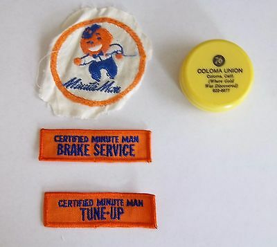 1960s UNION 76 Minute Man Service Station Attendant Uniform Patches & Cup