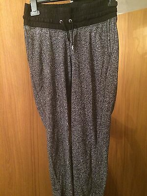 H&M Mamma Tracksuit Bottoms Black Speckled Small