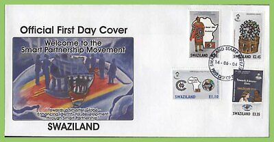 Swaziland 2004 Smart Partnership set on First Day Cover