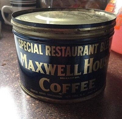 Vintage Maxwell House Coffee Can Rare Restaurant Blend