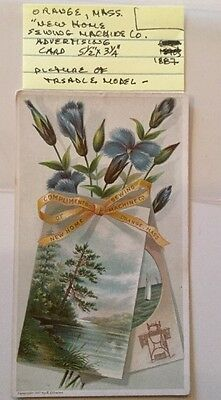 Orange, Mass. New Home Sewing Machine Co. Advertising Card 1887