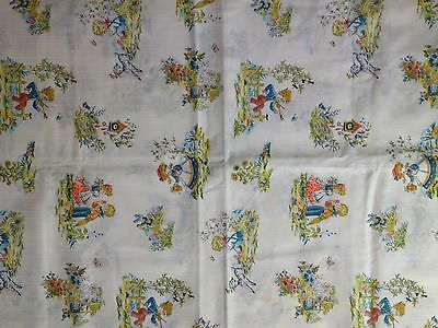 "Adorable Vintage Children's Novelty Fabric 44"" x72"""