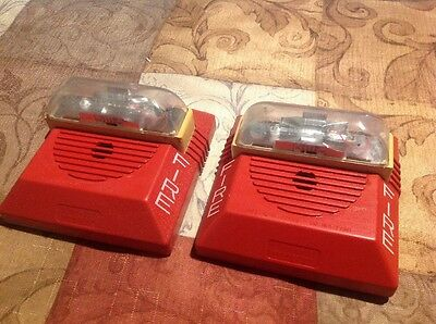 2 Wheelock NS-24MCW Fire Alarm Horn Strobe 24v Working Used