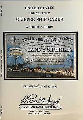 US 19th Century Clipper Ship Trade Cards  Siegel Auction Catalog,prices realized