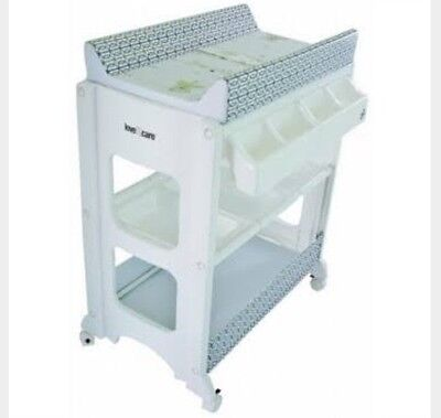 Love N Care Change and Bath Table Browns Bathstand Exc Cond