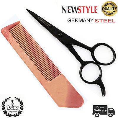 Proffesional Beauty Moustache Scissors Grooming Beard Facial Hair Eyebrows 4.5""