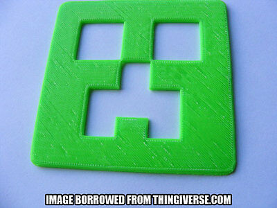 Creeper Minecraft Themed Coasters [3D Printed]