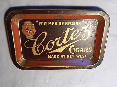 Vintage Cortez Cigars Tip Tray Early 1900s Advertising Tray