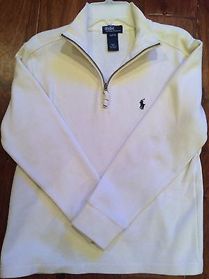 Polo by Ralph Lauren Ivory Long Sleeve Sweater; Boys S (8/10)
