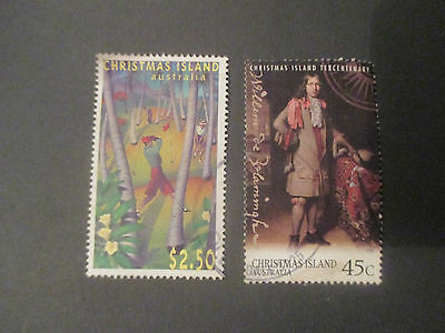 No 6--1995   Christmas  Island  Issues - 2  Stamps  -Great  Lot   -A1