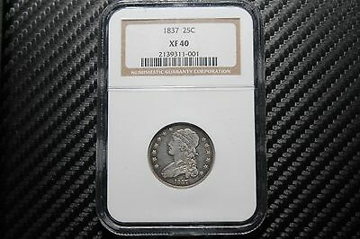 1837 Bust Quarter NGC XF40 - ATTRACTIVE!