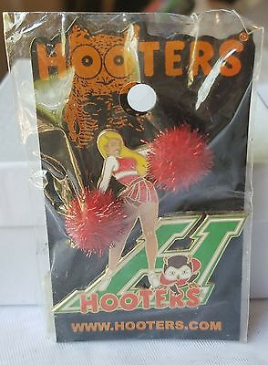 Brand New Hooters Cheerleader With Poms Lapel Pin