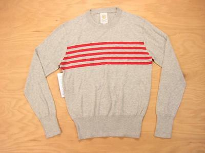 MICHAEL BASTIAN x GANT gray STRIPED COTTON/SILK CREW NECK SWEATER S