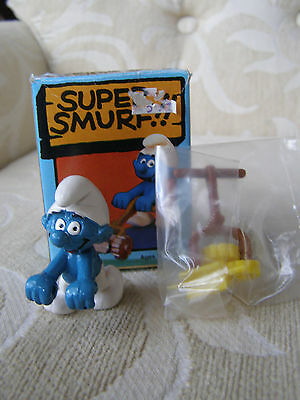 Vintage Super Smurf Papa Rocking Chair 1981 - NEW IN BOX