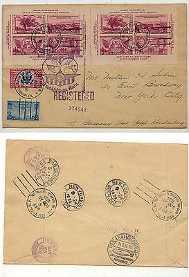 US  778 (2 sheets),  CE1,2 on Hindenburg   Zeppelin cover  1936   FUS0106