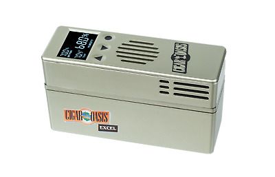 "CIGAR OASIS Excel Electronic Humidor Humidifier w/ 30"" Ribbon + Free Cartridge"