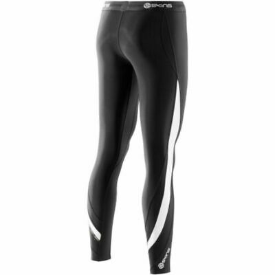 Skins DNAmic Thermal Womens Long Tights (Black/Cloud) + Free AUS Delivery!