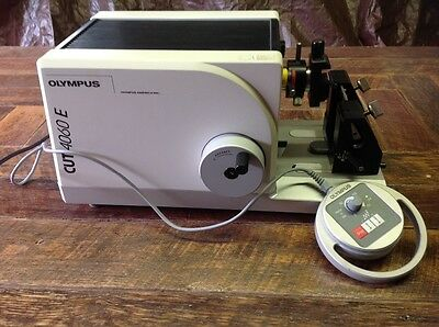 OLYMPUS MODEL CUT 4060E MOTORIZED MICROTOME - With Remote