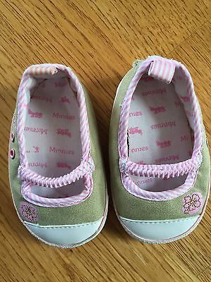 Minnies Crib Shoes Size 2 Girl's Baby Infant