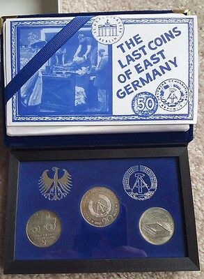 The Last Coins of East Germany 5 Mark Postal 5 Mark Zeughaus 20 Mark Brandenburg