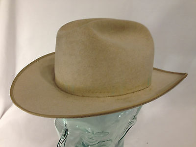 Vintage Stetson 2X Open Road Beaver Western Hat missing Hat Band Size 6 7/8