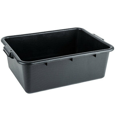 "20"" x 15"" x 7"" Black Polypropylene Plastic Bus Tub, Dish Bus Box 70221157 BK"