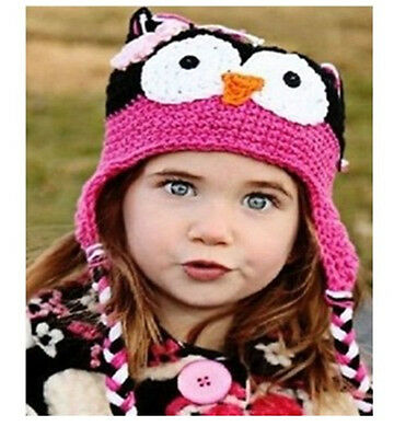Newborn* Baby Crochet Knit Costume Photo Photography Prop Outfits owl