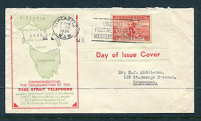 Australia 1936 2D Cable  Illustrated First Day Cover Very Fine & Scarce