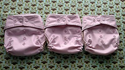 Grovia Hybrid Shells - Cloth Diaper Cover - Cosmos with Snaps - Lot of 3 - VGUC