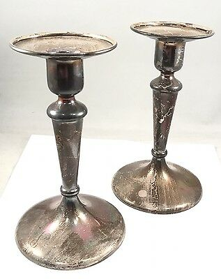 Rare Shreve & Co. San Francisco Sterling Silver 925 Candlesticks Great Condition